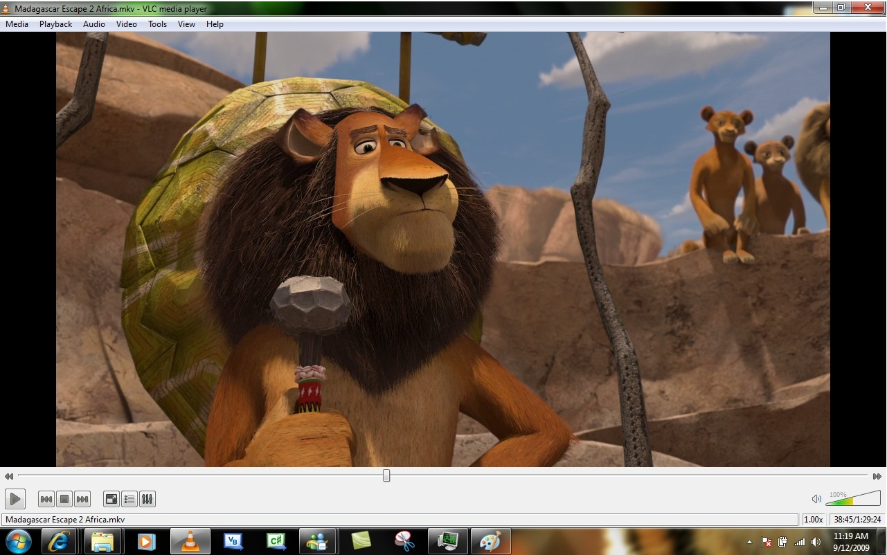 VLC Media Player - интерфейс программы