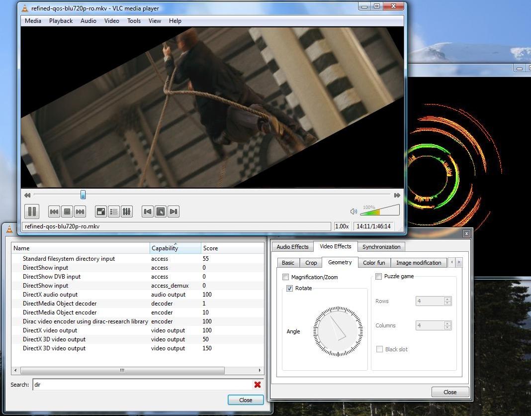 VLC Media Player - интерфейс программы с настройками