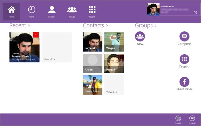 Viber - приложение для Windows 8