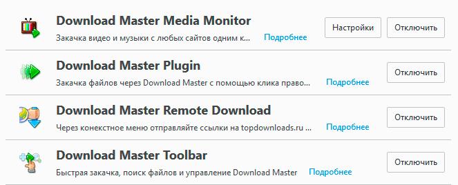 Download Master в Firefox