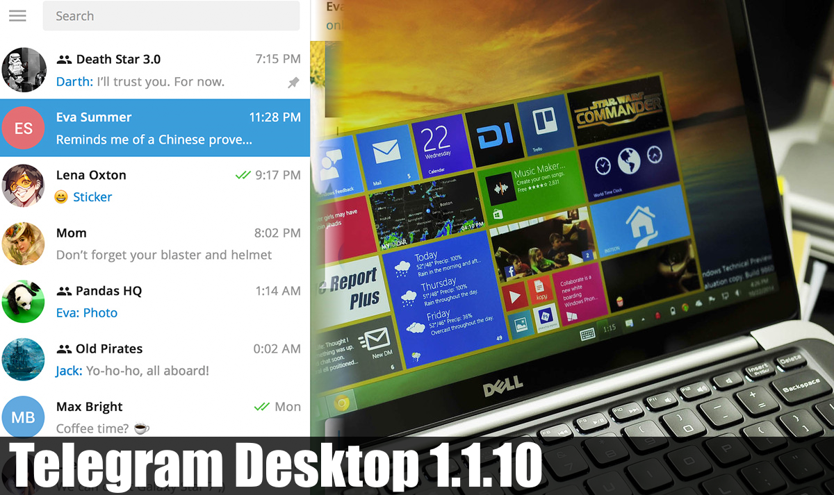 Telegram Desktop 1.1.10