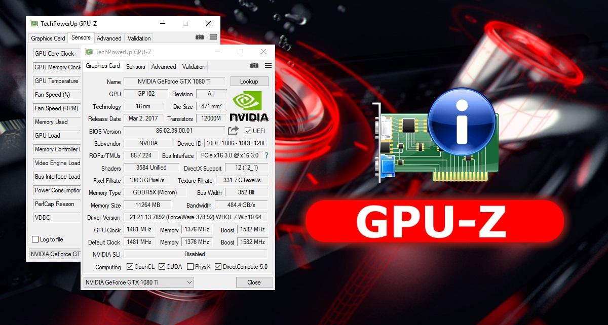 GPU-Z 2.10.0 добавил поддержку памяти GDDR6 и улучшил совместимость со старыми видеокартами ATI