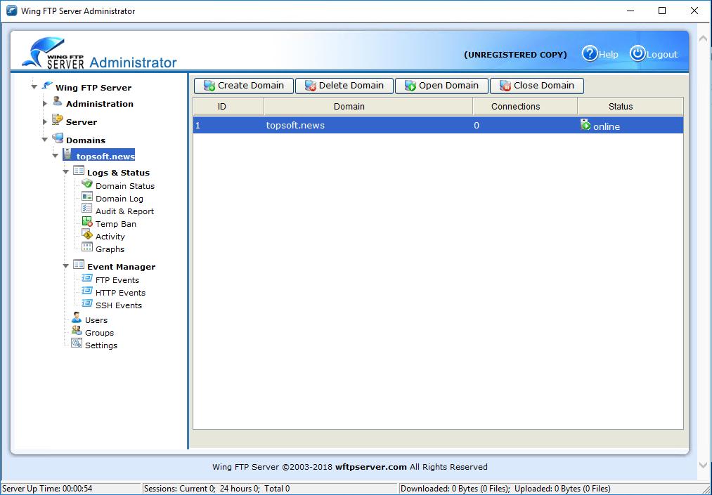 Wing FTP Server 5.0.9 улучшил подключение по протоколу SFTP