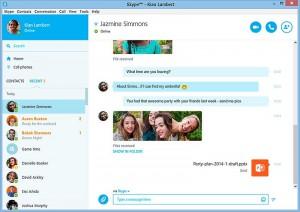 Skype - окно чата