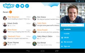 Skype - список контактов