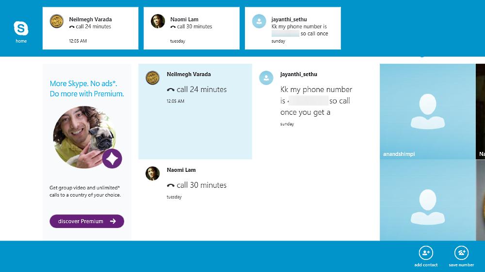 Skype 7.18.0 Metro