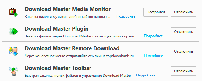 Download Master в Firefox