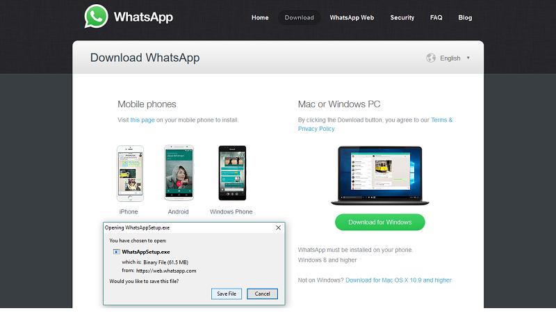WhatsApp - инсталляция