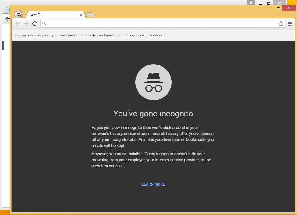 Google Chrome - режим инкогнито