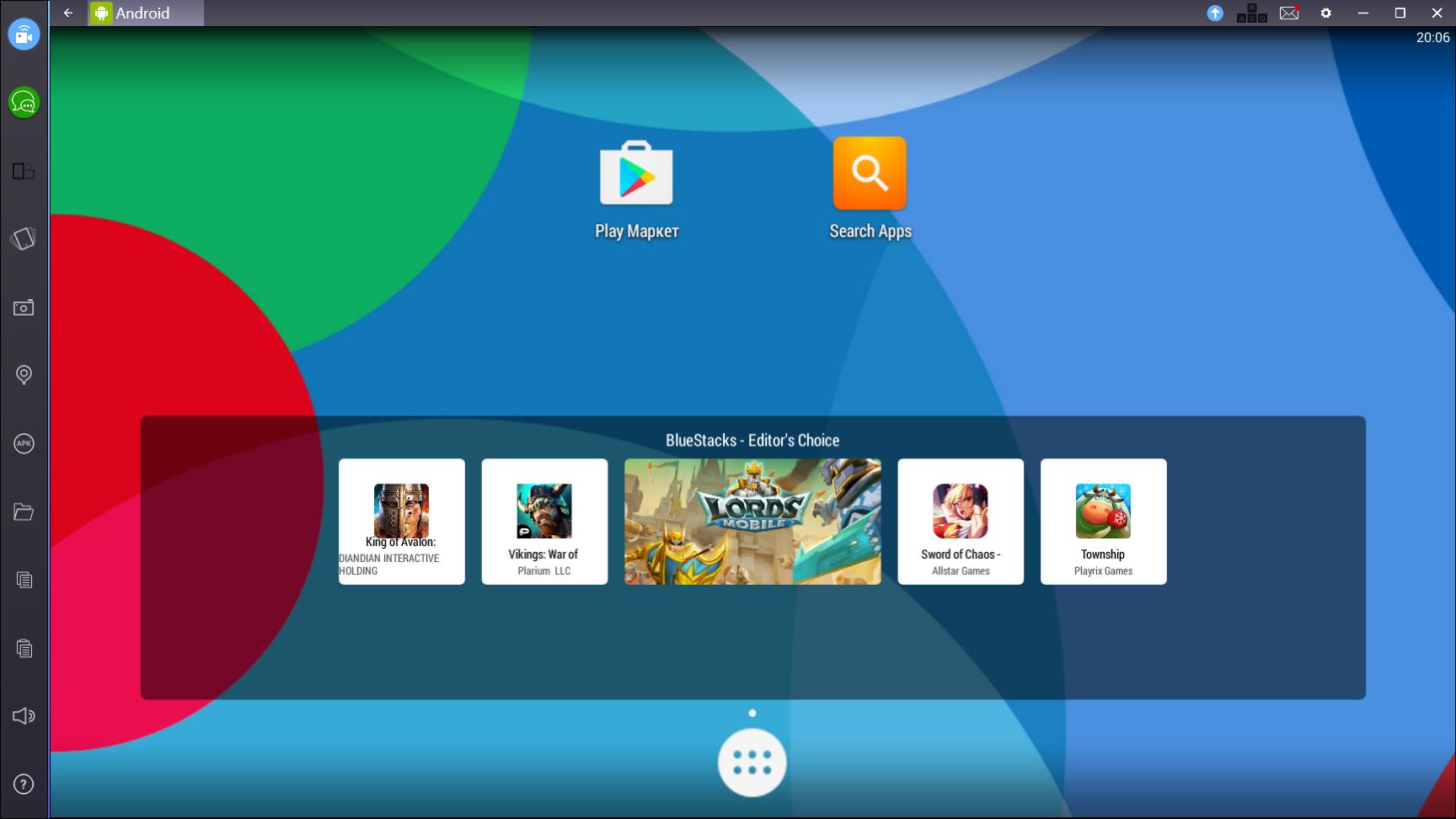 Новый интерфейс BlueStacks App Player