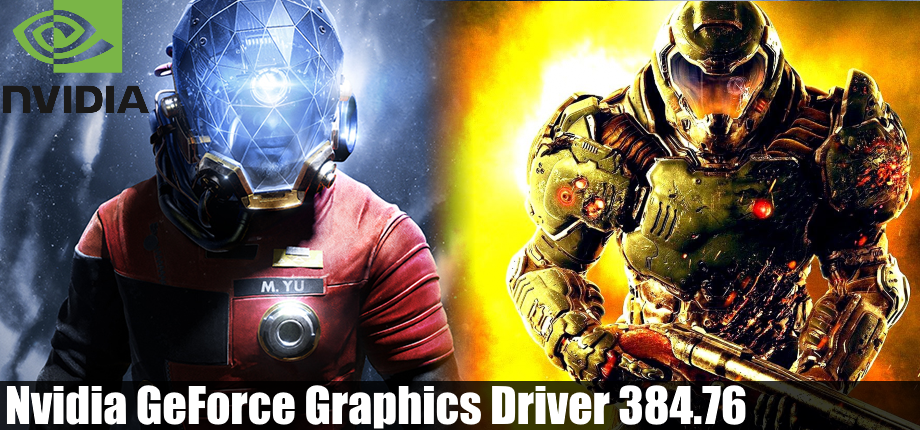 Nvidia GeForce Graphics Driver 384.76
