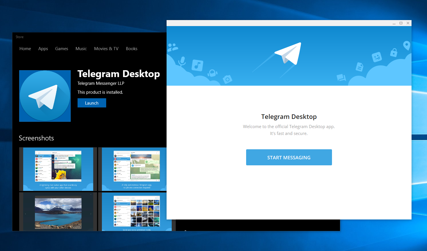 Telegram Desktop Windows 10