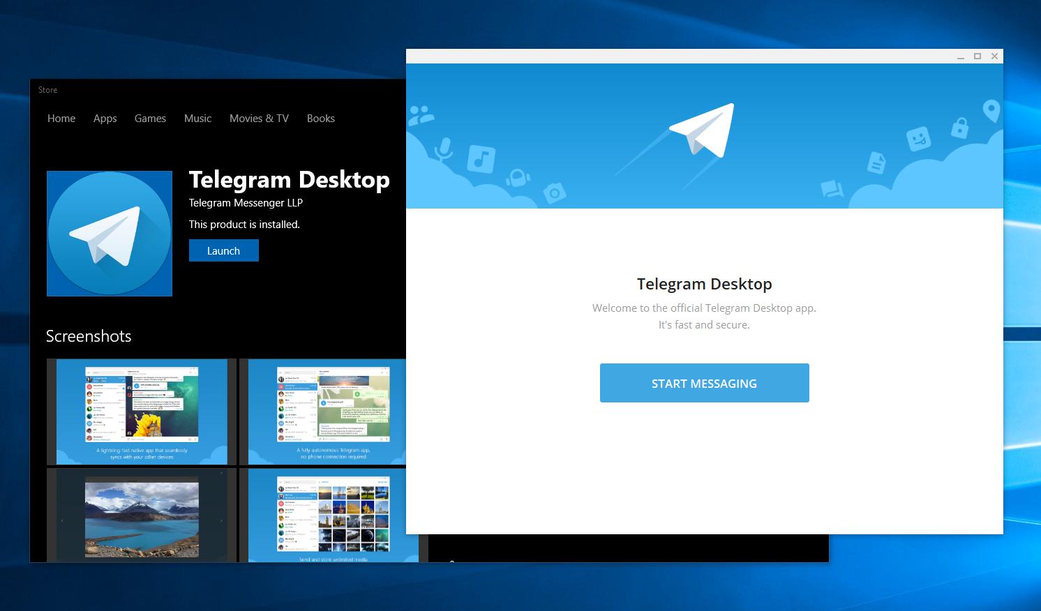 Telegram Desktop Windows 10