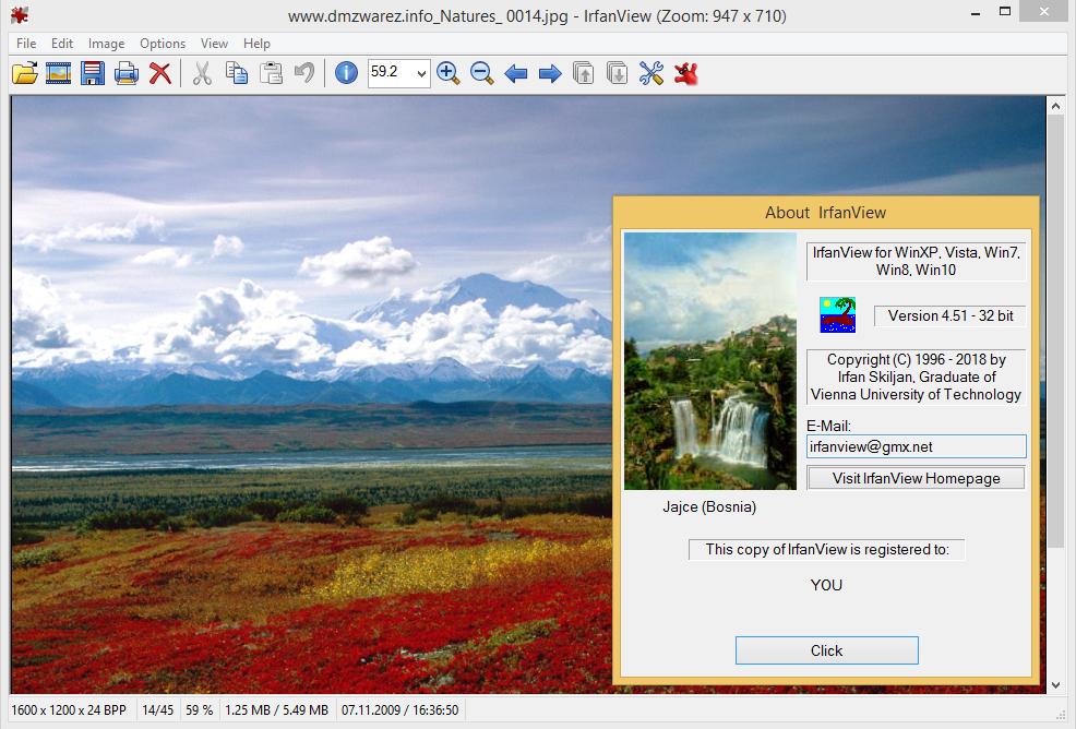 IrfanView 4.51 получил поддержку webp-файлов и плагинов