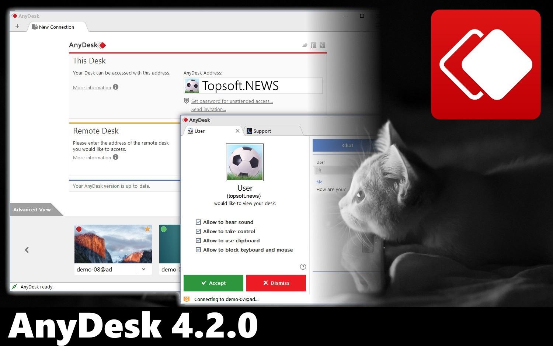 AnyDesk 4.2.0 исправил сбой в режиме рендеринга Direct 3D