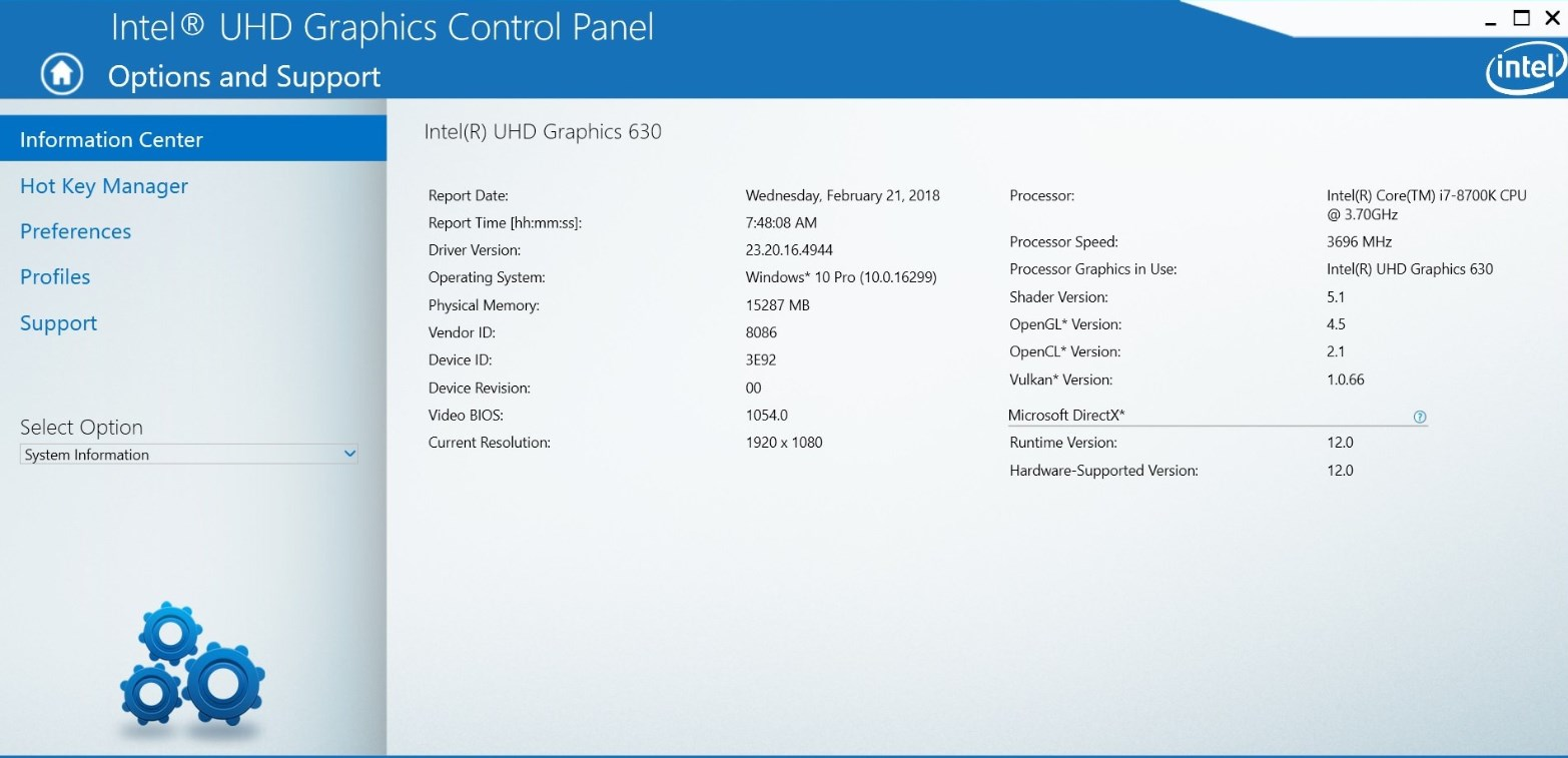 Intel Graphics Windows 10 DCH