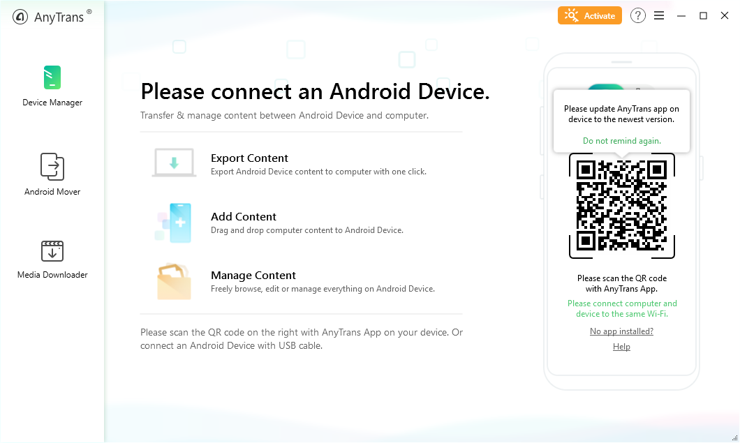 AnyTrans Android Manager
