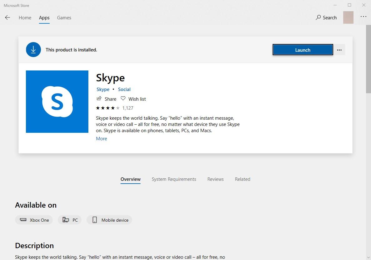 Новый логотип Skype в Windows Store