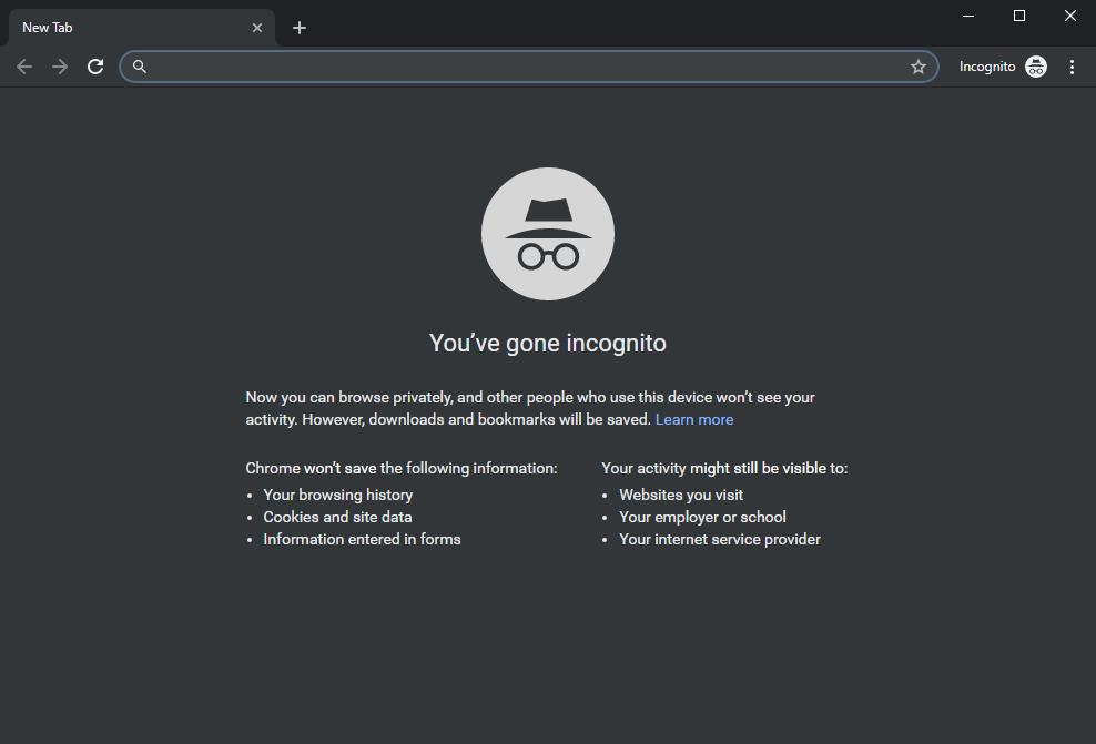 Режим инкогнито в Chrome