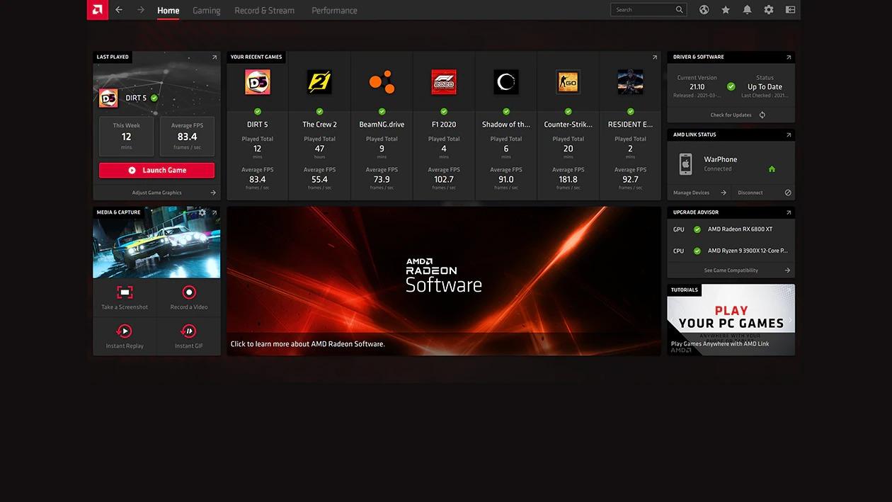 AMD Radeon Adrenalin Edition