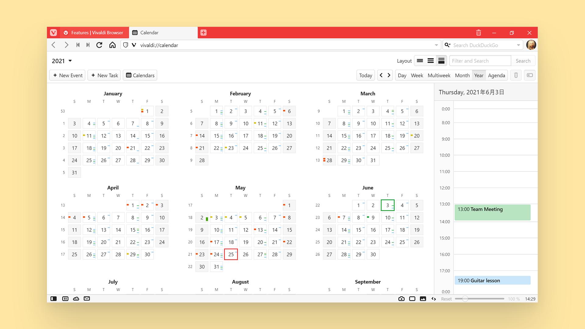 Календарь Vivaldi